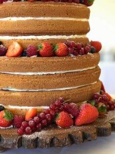 Victoria Sponge Wedding Cake White Radish